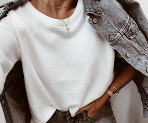 accessories, denim, and necklace image