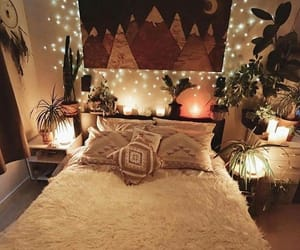 cozy, bed, and bedroom image