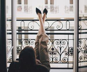balcony, girl, and beautiful image