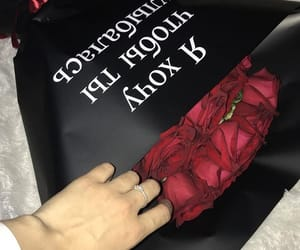 black, boy, and roses image