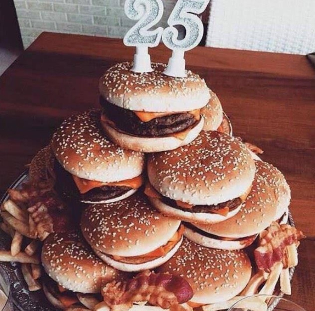 Marvelous Burger Birthday Cake Shared By Val On We Heart It Funny Birthday Cards Online Aeocydamsfinfo