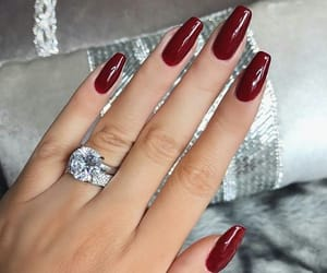 ring, nails, and red image