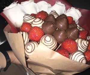 cherry, roses, and chocolate image
