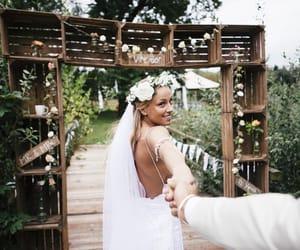 bride, flower, and wedding image