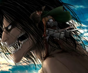 attack on titan, eren jeager, and levi ackerman image