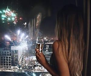 celebrate, new year, and wine image