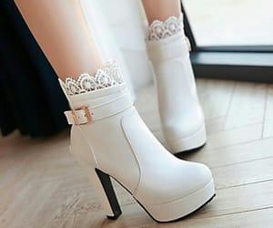 ankle boots, elegant, and platform image