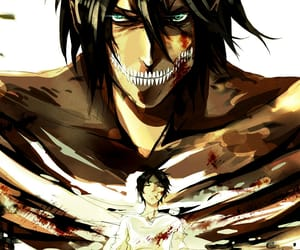 attack on titan and eren jeager image