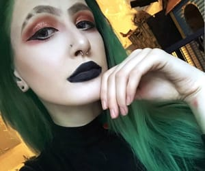 colored hair, elf, and emo image