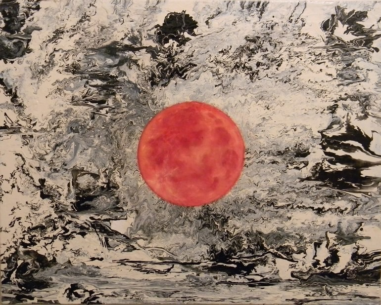 art, moon, and artistic image