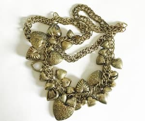 costume jewelry, etsy, and heart necklace image
