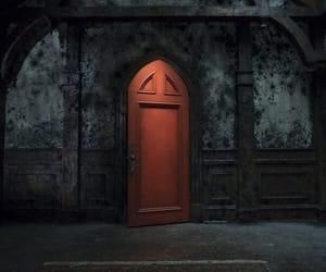 door, horror, and netflix image