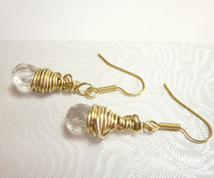 wire wrapped earrings image