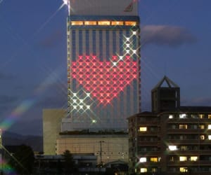 art, cityscape, and hearts image