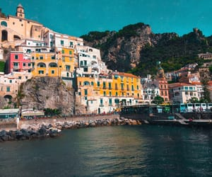 Amalfi, beach, and coast image