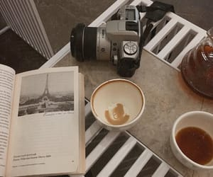 cafe, book, and coffee image