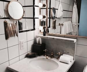 bathroom, interior, and sink image