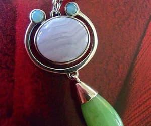 etsy, sterling pendant, and sterling gem pendant image