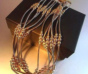 etsy, gold tone beads, and sophisticated image