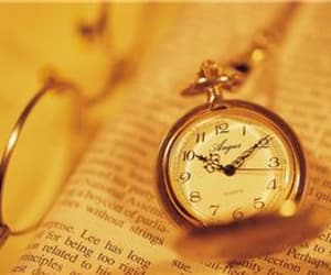 aesthetic, book, and clock image
