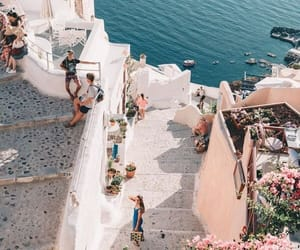 adventure, flowers, and Greece image