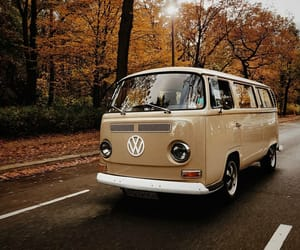 autumn, vintage, and cars image