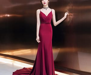 evening dress, girl, and sexy dress image