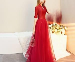 evening dress, girl, and vintage dress image
