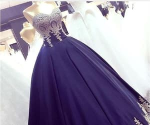 prom dresses for cheap, navy blue prom dresses, and evening dress ball gown image