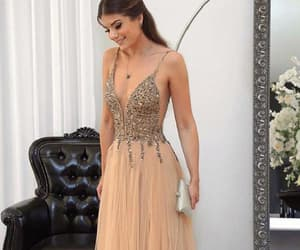 sleeveless prom dress and evening dresses long image
