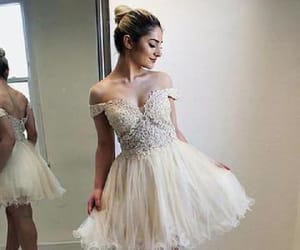 prom dresses lace, homecoming dresses a-line, and short prom dresses image