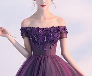 purple prom dresses, a-line homecoming dresses, and short sleeve prom dresses image