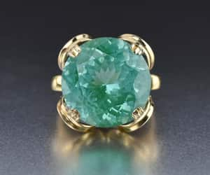 blue, intage, and ring image