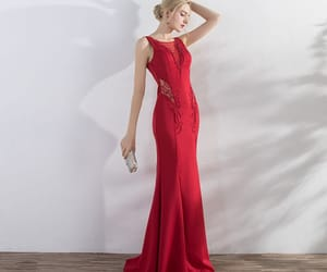 backless, scoop neck, and floor-length long image