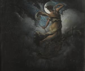 art, diana, and full moon image