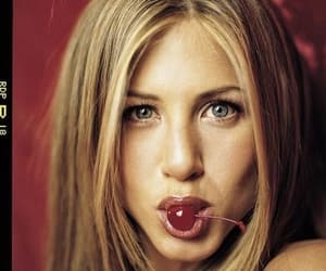 cherry, 90s, and Jennifer Aniston image