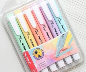 highlighter, stationery, and highlighters image