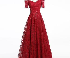 prom dress, long evening dresses, and lace prom dresses image