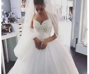 wedding dresses, lace wedding dress, and ball gown wedding dress image