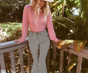pants, pink, and stripes image