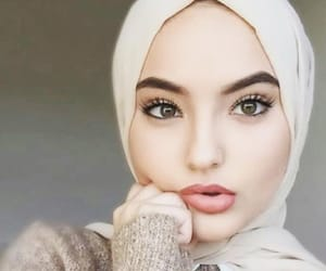 hijab, model, and islam image