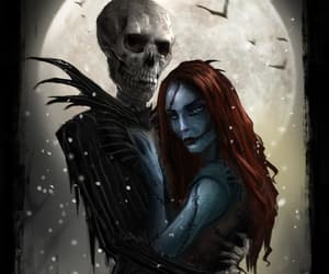 couple, jack and sally, and disney image