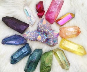 colors, crystal, and rainbow image