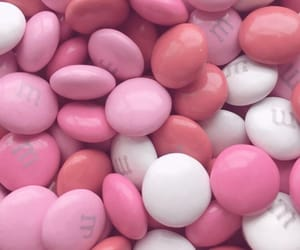 pink, m&m's, and m & ms image