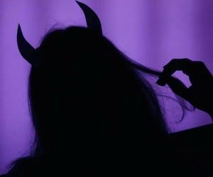 girl, Devil, and purple image