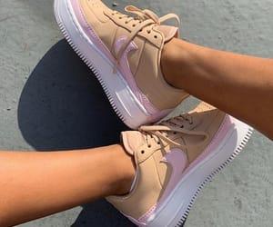 brown, nike, and pink image