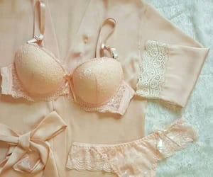 beige, dentelle, and lingerie image