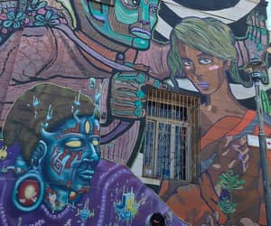 colors, valparaiso, and mural image