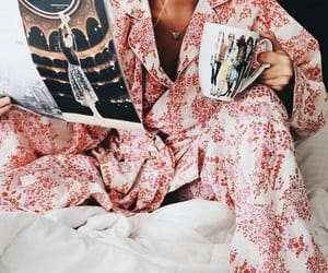 girl, fashion, and pajamas image