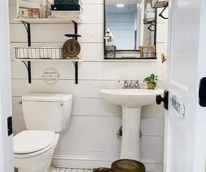 bathroom, home, and vintage style image